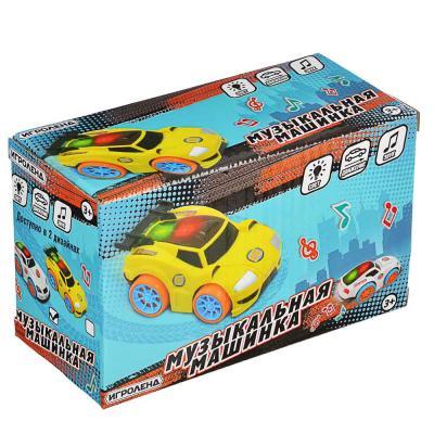 292-207 ИГРОЛЕНД Машинка музыкальная, свет, звук, движение, 3АА, пластик, 8,5х6х14,5см, 2 дизайна