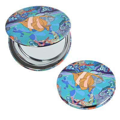 300-005 SEA Зеркало карманное, ПУ, сплав, стекло, d=7см