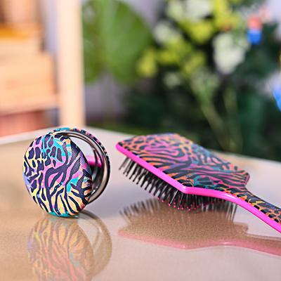 300-022 SAF Зеркало карманное, ПУ, сплав, стекло, d=7см, КК-04