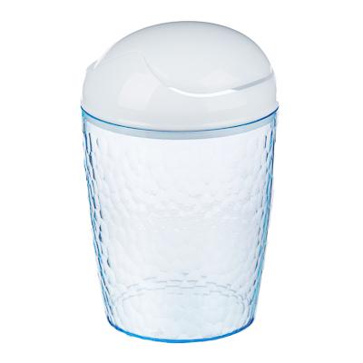 422-018 Контейнер настольный Natural stone, 17х11см, пластик, голубой прозрачный