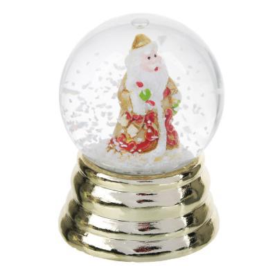"396-604 СНОУ БУМ Снежный шар 6,3 см, полистоун, ""Новогодний"", 3 дизайна, арт 10"