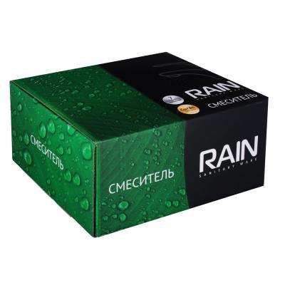 561-295 Смеситель для ванны RAIN Малахит, однорычажный, короткий излив, хром