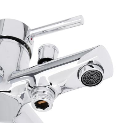 561-303 RAIN Смеситель для ванны Янтарь, однорычажный, кор излив, карт. 40мм, латунь, хром