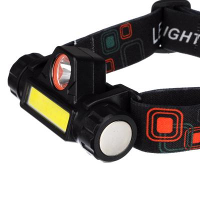 221-013 ЧИНГИСХАН Фонарик налобный, 1000мАч, 1 COB, 1 LED, 8х3 см, 2 режима, пластик