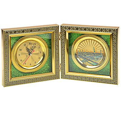 500-024 Часы настольные, стекло, закрывающиеся, 16х16 см , 1хАА, МT. Арт 1