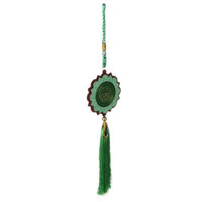 500-028 Подвеска декоративная, дерево, полиэстер, 41 см, 2 дизайна, МТ