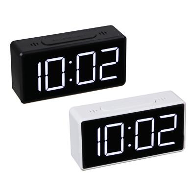 529-181 LADECOR Будильник электронный, термометр, 3хААА, USB, 10х3х5 см, 2 цвета