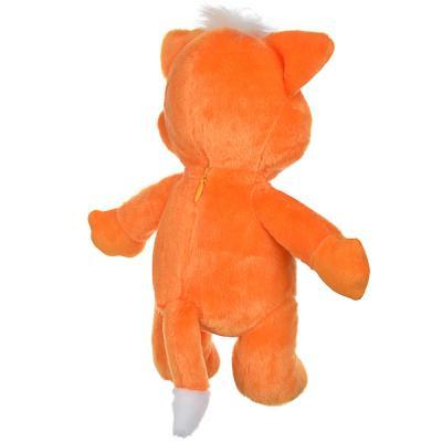 264-248 BY Игрушка мягкая в виде рыжего кота, звук, 3LR44, полиэстер, 30х26х15см