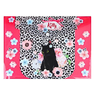 236-041 Фэшн Китти Папка А4 с кнопкой, с цветной печатью, 160мкр, полипропилен