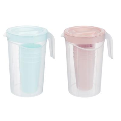 861-294 Набор посуды, 6 пр.: кувшин 2л, стаканы 4шт 0,33л, пластик, 2 цвета