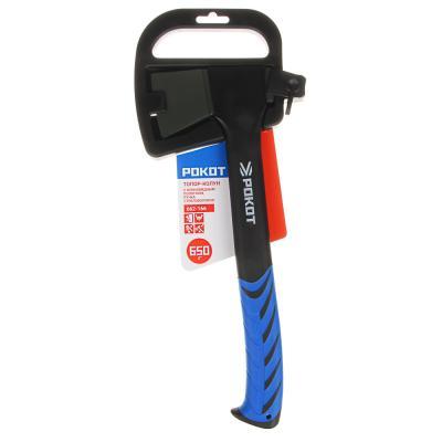 662-166 РОКОТ Топор-колун, 650г, с клиновидным полотном, ручка стекловолокно
