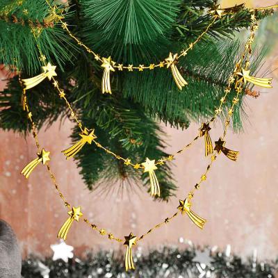 378-234 СНОУ БУМ Бусы декоративные, 200 см, пластик, 6 цветов, арт. 2021-7