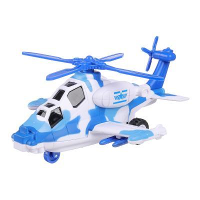 292-210 ИГРОЛЕНД Игрушка в виде вертолета, свет, звук, инерц., движение лопастей,3хLR44, пластик, 20х12х8,2с