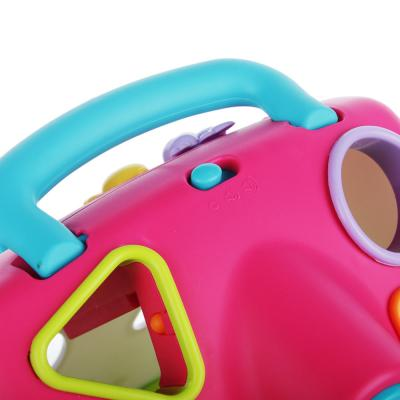 """272-693 ИГРОЛЕНД Игрушка интерактивная """"Домик-сортер"""", звук, 3АА, пластик, 24,5х22,3х16,5см, 2 цвета"""