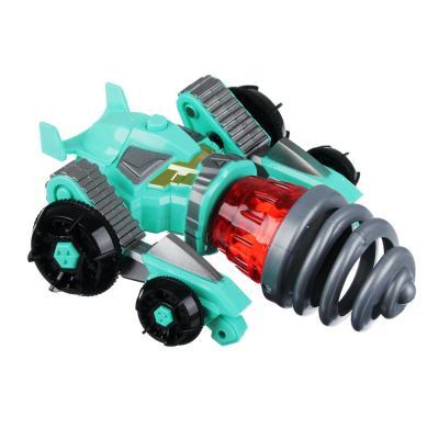 """900-014 ИГРОЛЕНД Игрушка """"запускалка"""" в виде трансформирующ. робота,волчок, диск, свет, ABS, 21,6х30х5см"""
