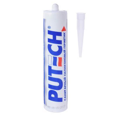 634-030 Герметик силиконовый PUTECH, санитарный, 280мл, прозрачный