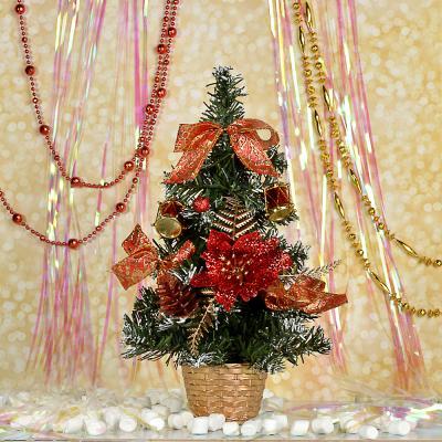 386-158 СНОУ БУМ Елка декоративная, пластик, полиэстер, 30см, 5 цветов