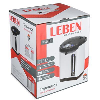 291-084 LEBEN Чайник-термопот 3,2л, 750Вт, автоматич. поддержание температ., металл