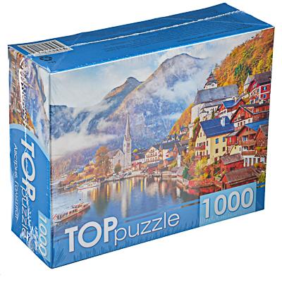 898-017 РЫЖИЙ КОТ Пазлы TOPpuzzle, 1000 деталей, картон, 19х15x6,7см, 10 дизайнов