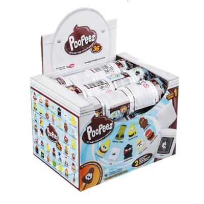 274-169 POOPEEZ Игрушка в виде туалетной бумаги с фигуркой, пластик, 5x5x4см