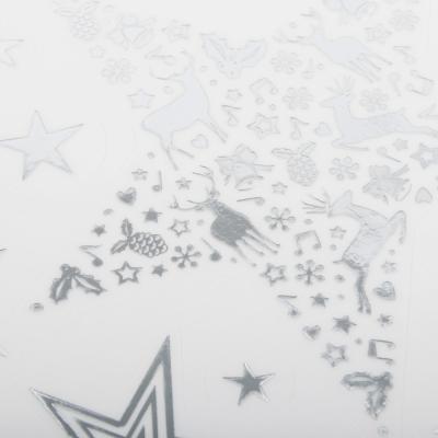 336-369 СНОУ БУМ Наклейка со звездами 21х30см, фольга, 6 дизайнов