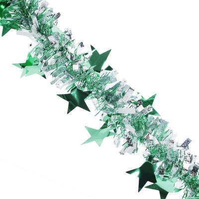 377-414 СНОУ БУМ Мишура со звездами, широкая, 200х9 см , 6 цветов