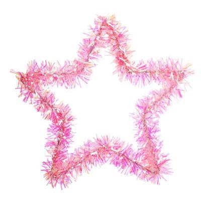 377-422 СНОУ БУМ Украшение декоративное 16см, ПВХ, металл, звездочки и сердечки, 12 видов