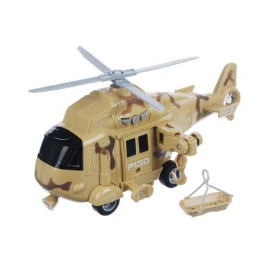 292-214 ИГРОЛЕНД Вертолет спец.подразделений, ABS, 3хLR44, свет, звук, инерция, 24x10,5x15,5см, 5 дизайнов
