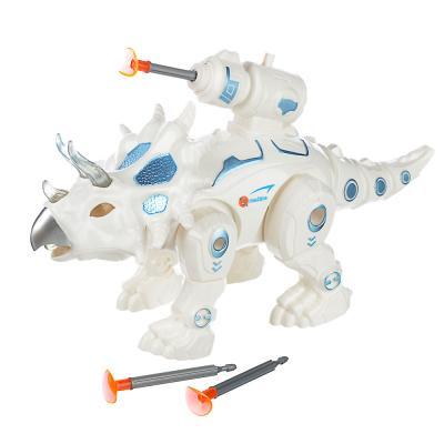 293-068 ИГРОЛЕНД Боевые динозавры, свет, звук, движ., 2АА, пластик, 22,5х9х115,5см, 2 дизайна