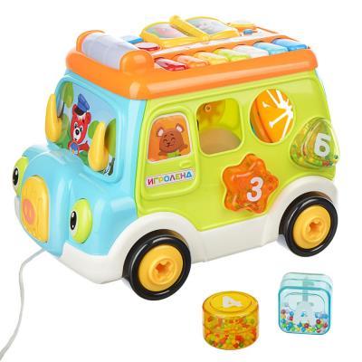 272-700 ИГРОЛЕНД Автобус-сортер, ABS, свет, звук, 34,7х22,8х23,3см