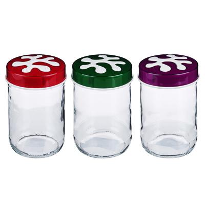 828-227 HEREVIN Пазл Банка для сыпучих продуктов, стекло, 660мл, 3 цвета, 135367-815