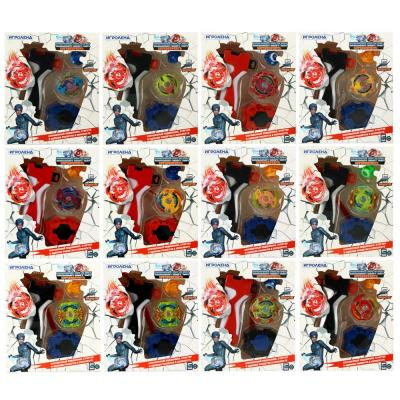 214-023 ИГРОЛЕНД Набор боевых волчков со стартером, 5пр., пластик, металл, 19х16х4,7см, 12 дизайнов