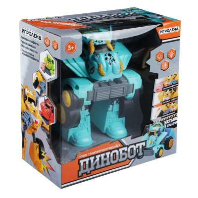 292-221 ИГРОЛЕНД Игрушка в виде динобота, металл, ABS, 3хААА, свет, 21х29х10см, 8 дизайнов