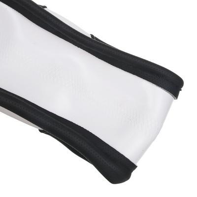 708-114 NEW GALAXY Оплетка руля, экокожа, черный, белая вставка, размер М