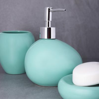 "463-944 VETTA Дозатор для жидкого мыла, ""Море"", керамика, 2 цвета"