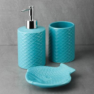 "463-946 VETTA Набор для ванной 3 пр., керамика, ""Лагуна"", 2 дизайна"