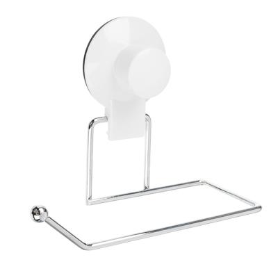478-065 VETTA Держатель для туалетной бумаги, металл, хром+белый, вакуумное крепление