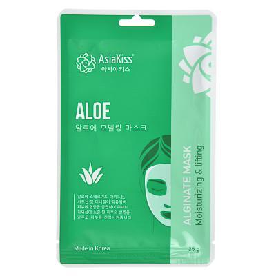978-055 Маска для лица альгинатная с коллагеном, с экстрактом зеленого чая, с золотом и улиткой, 25г