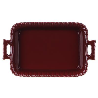 826-318 MILLIMI Форма для запекания и сервировки прямоугольная с ручками, керамика, 28х16,5х5см, бордо