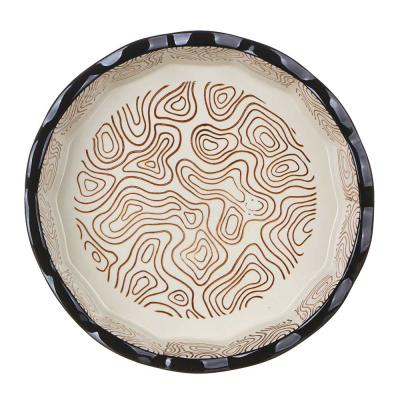 826-322 MILLIMI Форма для запекания и сервировки круглая, керамика, 22х4,5см, шоколад