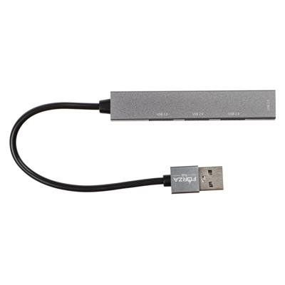 405-021 FORZA USB-хаб 4 в 1, 4xUSB 2.0, штекер USB, корпус металлик, пластик
