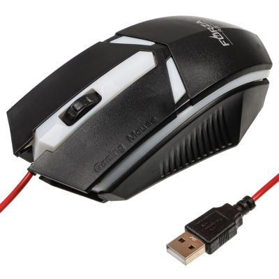 Мышь компьютерная проводная игровая, 1200 dpi, 130см, пластик-2