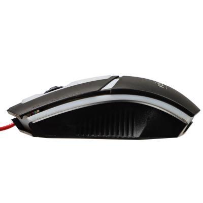 Мышь компьютерная проводная игровая, 1200 dpi, 130см, пластик-4