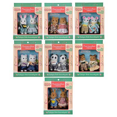 """274-172 ИГРОЛЕНД Набор фигурок коллекционных """"Счастливая семья"""", ABS, хб ткань, 13,5х17х4,5см, 7 дизайнов"""