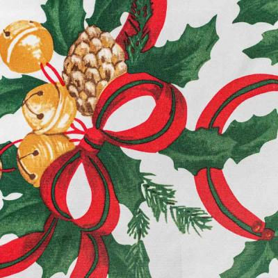488-020 PROVANCE Новогодняя Скатерть текстильная с водоотталкивающей пропиткой, 140x180см, 100% ПЭ, 3 диз.
