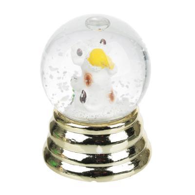359-771 СНОУ БУМ Снежный шар Символ Года 2021 на золоте, полистоун, 6х4,5см, 3 дизайна