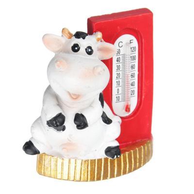 359-777 СНОУ БУМ Магнит с термометром Символ Года 2021, полистоун, 5,5х5см, 4 дизайна