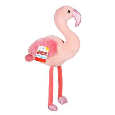 264-833 МЕШОК ПОДАРКОВ Игрушка мягкая в виде фламинго, 45-48см, полиэстер