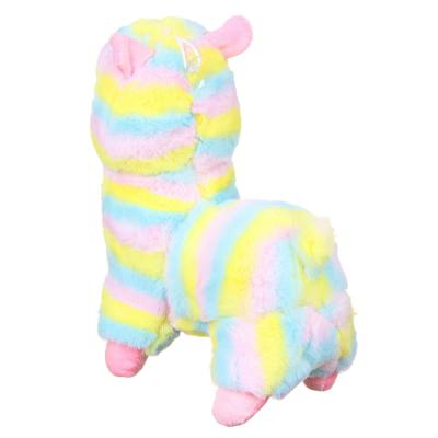 264-837 МЕШОК ПОДАРКОВ Игрушка мягкая в виде ламы, 26см, полиэстер, 4 цвета