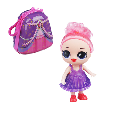 267-832 ИГРОЛЕНД Кукла сюрприз в чемоданчике 7 в 1, металл, пластик, 6 дизайнов
